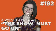 """""""The show must go on"""" is a point of pride, excellence and also stress. Here's 3 ways to live with this work ethic and keep going. Work Ethic, To Go, Pride, Stress, Artists, How To Plan, Hot, Tips, Psychological Stress"""