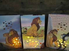 5 Luminaries, The Lion King, Walt Disney, Lion King, Disney Decorations, Lion King Birthday Party Decor, Disney Wedding
