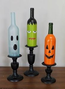 Fall wine bottle crafts @Chelsea Robinson lets do this!