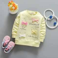 3e47ada28528d9 Sweet baby girl long sleeve tops with bow 0 2 years toddler cotton spring  and autumn basic t shirt newborn princess clothes -in Tees from Mother    Kids on ...