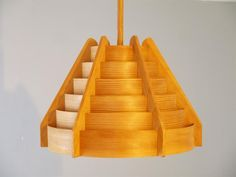 Mid-Century Wooden Pendant from Hans Agne Jakobsson for sale at Pamono