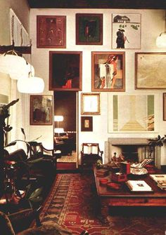 Eclectic salon wall