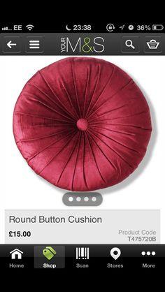 M - Red round cushion