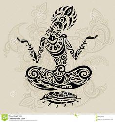 yogi meditating tattoo - Google Search