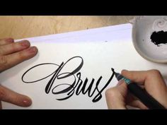 Pentel Color Brush Demonstration Videos – Brush Lettering Tutorial