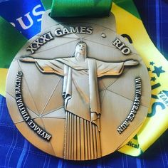 A photo of our Gold Rush Medal taken by a Gold Rush Virtual Race competitor. Gold Rush, Racing, Auto Racing
