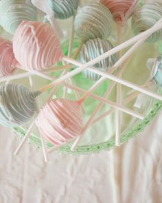 The Sweets in pastel pink, blues and greens