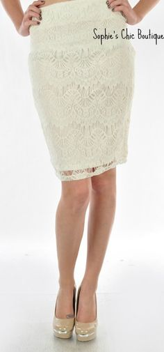 Women's Lace skirt from Sophie's Chic Boutique.