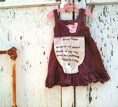 little bird rustic Toddler dress/Nursery rhyme by kateblossom, $50.00