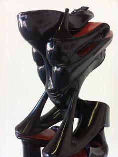 LOUBOUTIN WORRIER  by willie cole  Shoe Art! Love it. Can't see it in my home, but I sure can in my daughters.