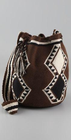 Wayuu Taya Foundation  Susu Bag  Style #:WAYUU40039  $175.00  $122.50 (30% off): Brown/Black