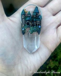 """92 Likes, 14 Comments - ️️Shadowlight Haven️️ (@shadowlighthaven) on Instagram: """"Quartz Castle Pendant comment SOLD or DM me if this piece calls to you!(strung on a vegan leather…"""""""