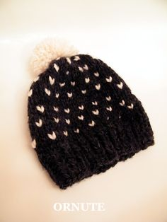 0612f54cc3c Fair Isle Knit Hat Women Pom Pom Slouchy Wool Beanie