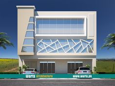 House front elevation design, view, interior design images in Pakistan. 5 Marla, 10 Marla, 1 Kanal house designs ideas pictures in Pakistan - Waris. Office Building Architecture, Facade Architecture, Building Design, Architecture Symbols, Building Structure, House Building, Building Ideas, Bungalow House Design, House Front Design