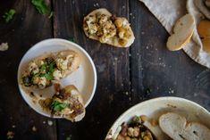 sicilian cauliflower & chickpeas on toast | two red bowls
