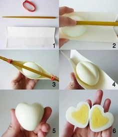 heart shaped hard boiled eggs
