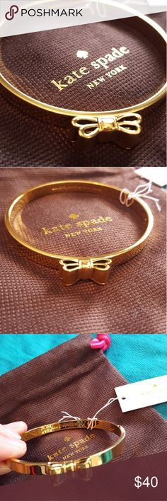 ♠️Kate Spade Moon River gold bow bracelet NWT, beautiful Kate Spade Moon River bow bracelet! This has never been worn,and comes with the dust bag. I ship same day or next day,and I accept all reasonable offers! kate spade Jewelry Bracelets