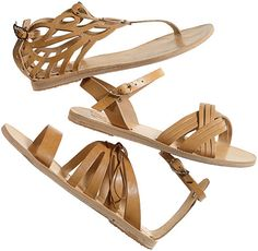 Classic update. #Greek design sandals..very comfy shoes and always in fashion on the Greek islands