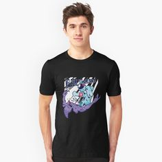 'Pinkfong Happy New Year (Baby Shark Clip Art With Elf Hat and Christmas Tree) - New Year and Christmas Themed Party Gift Ideas' T-Shirt by Family Shark Loose Fit, Style Surfer, Pride Shirts, Vintage T-shirts, Unisex, Slim Fit, Tshirt Colors, Female Models, Chiffon Tops