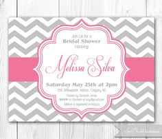 gray and pink baby shower invitations - Google Search