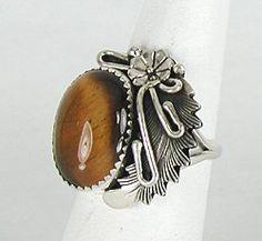 Navajo Tiger Eye bracelet and pendant set Sterling Silver Peterson Johnson