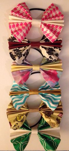 Duct Tape Bows by BoomitTape on Etsy Duct Tape Projects, Duct Tape Crafts, Craft Business, Business Ideas, Duct Tape Bows, Make And Sell, How To Make, Hair Bows, Dog