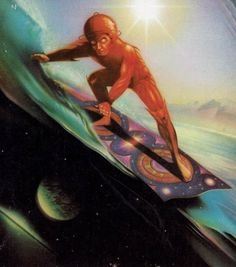 Submission to an Alien Religion 70s Sci Fi Art, Fantasy World, Cover Art, Surfing, Disney Characters, Fictional Characters, Painting, Submission, Religion