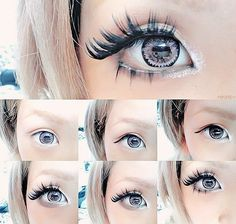 fake eyelashes for gyaru makeup Gyaru Hair, Gyaru Makeup, Ulzzang Makeup, Kawaii Makeup, Cute Makeup, Hair Makeup, My Beauty, Beauty Makeup, Light Eyebrows