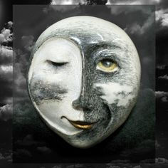 """Passing in the Night"" -  Porcelain mask sculpture -  details at:  www.maskwoman.com"