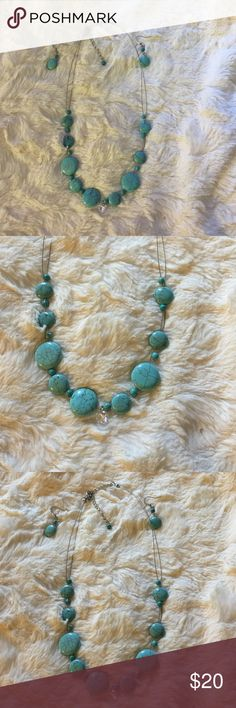 Turquoise set Turquoise stones set necklace and earrings Jewelry Necklaces