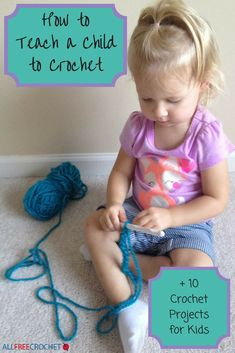 Since we're all crocheters, what better gift to give than to teach crochet? Check out How to Teach a Child to Crochet and find crochet projects for kids. Crochet For Kids How to Teach a Child to Crochet + 10 Crochet Projects for Kids Crochet Simple, Quick Crochet, Crochet Bebe, All Free Crochet, Easy Crochet Patterns, Crochet Gifts, Learn To Crochet, Crochet For Kids, Sewing For Kids