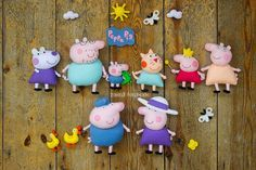 """Большой совместный пошив """"Peppa Pig"""" - 2 страница Felt Diy, Felt Crafts, Diy And Crafts, Peppa Pig Doll, Cumple Peppa Pig, Peppa Pig Family, Quiet Book Patterns, Felt Quiet Books, Pig Party"""