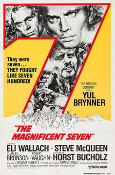 The Magnificent Seven is a 1960 American Western film directed by John Sturges and starring Yul Brynner, Eli Wallach, Steve McQueen, Charles Bronson, Robert Vaughn, Brad Dexter, James Coburn and Horst Buchholz. The film is an Old West–style remake of Akira Kurosawa's 1954 Japanese film Seven Samurai.