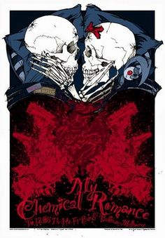 My Chemical Romance Concert Poster by Rhys Cooper