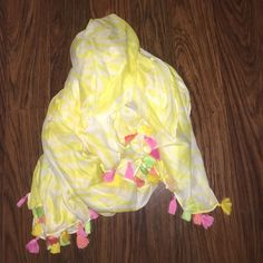 Lilly Pulitzer For Target Tassle Scarf So cute, never worn. Lilly Pulitzer Accessories Scarves & Wraps