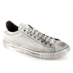 Sneakers basse uomo vintage bianche