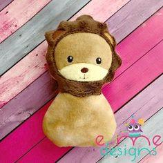 Lion Snuggler Embroidery Design - E&Me Designs