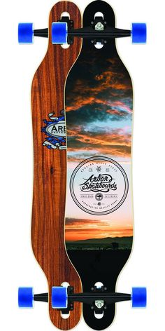 Arbor Axis Koa Longboard Skateboard Complete. The Axis is flexy and fun for cruising, carving, and mild freeriding.