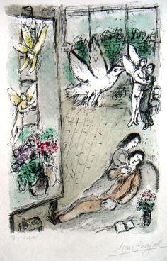 Denis Bloch Fine Art - Marc Chagall - L'Oiseau dans l'Atelier