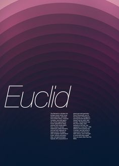 Mathematician Posters and Wallpapers by Michael Campbell, via Behance