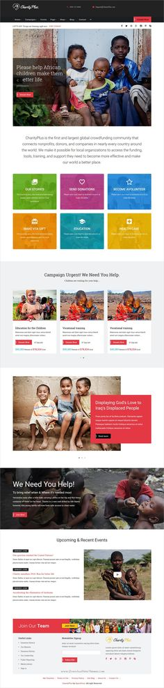 THX is clean and modern design PSD #theme for charity, donation - ngo templates
