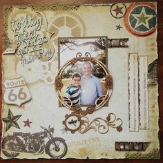 Layout: Today is a great day to make a memory My Scrapbook, Scrapbook Layouts, Gallery Wall, Memories, Cool Stuff, Day, How To Make, Memoirs, Souvenirs