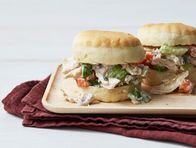 Chicken Pot Pie Salad Sandwiches