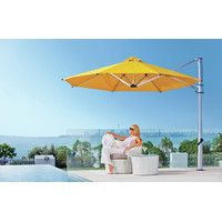 13 ft. Octagonal Commercial Grade Eclipse Cantilever Umbrella with In-Ground Mount