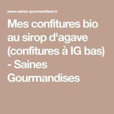 Mes confitures bio au sirop d'agave (confitures à IG bas) - Saines Gourmandises