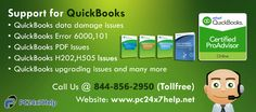 QuickBooks is widely used accounting software which is used for managing small and large businesses. However it is very useful for people to manage their businesses but as we are working this technological era so, sometimes, people have found some issues like QuickBooks PDF Issues, QuickBooks Unrecoverable Errors, QuickBooks sync manager error, QuickBooks H202,H505, QuickBooks upgrading issues, QuickBooks online banking issues etc.
