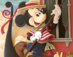 Mickey Mouse in Venice Paper Sculpture by Karin Arruda