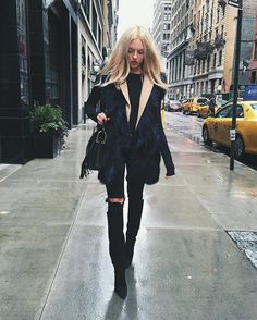 Rainy day in NYC getting ready for tonight ⭐️ : Peace Love Shea waysify