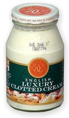 This is what I've seen in the store.  I've never bought it and honestly never actually eaten clotted cream!