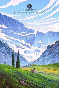 Landscapes арт, пейзаж, Подборка, длиннопост